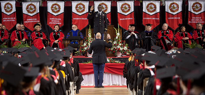 WKU ROTC commissions 14 cadets as second lieutenants this weekend. WKU thanks all veterans and military members for their service. #WKUGrad