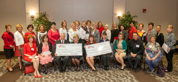 "The WKU Sisterhood recently awarded $15,500 to the Department of Music for the purchase of needed equipment, $15,000 to the Department of Theatre and Dance for ""Theatre in Diversion"" program and $5,250 to the Department of Counseling and Student Services for web-based professional development."