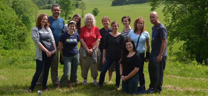 The 2015 graduating students of the MA in Social Responsibility & Sustainable Communities at the end of their symposium week, at Hamilton Valley, Mammoth Cave.