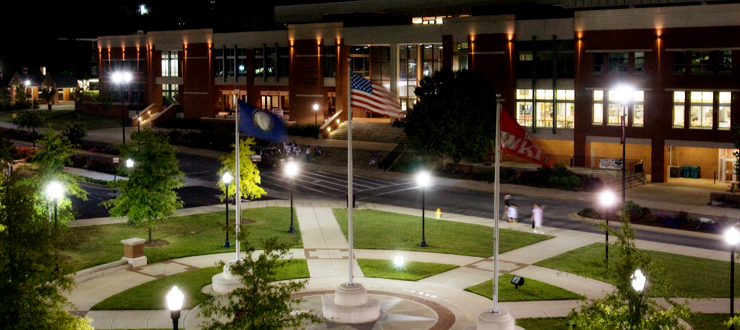 DUC at night