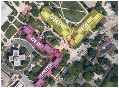 Special Move-in Information for Northeast & Southwest Halls