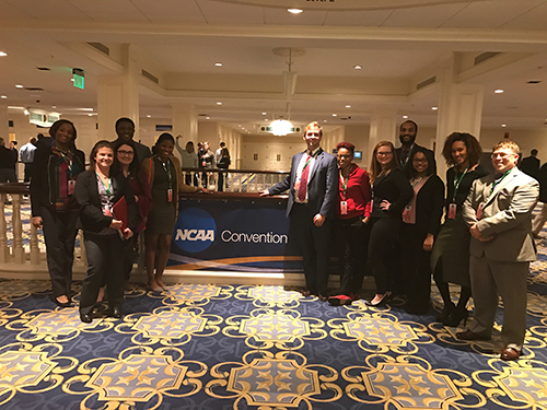 10 WKU Graduate Students Participate in Winter Session Study Away at NCAA Convention in Nashville