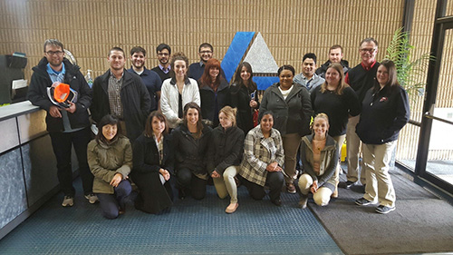 Students from WKU's Department of Public Health in the College of Health and Human Services visited Logan Aluminum.