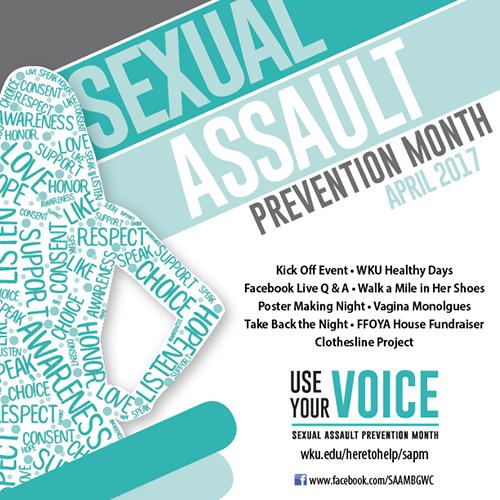 Sexual Assault Prevention Month activities begin March 27