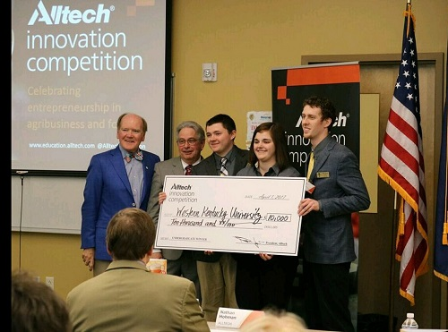 WKU Student Team Wins $10,000 in Alltech Innovation Competition