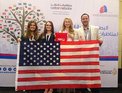 Students from WKU Arabic Program represent U.S. in international debate competition