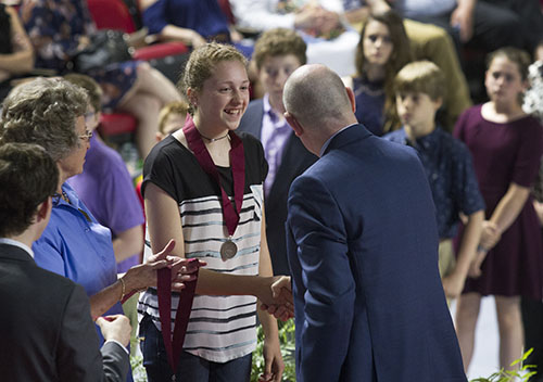 Academically talented seventh graders honored at Duke TIP ceremony