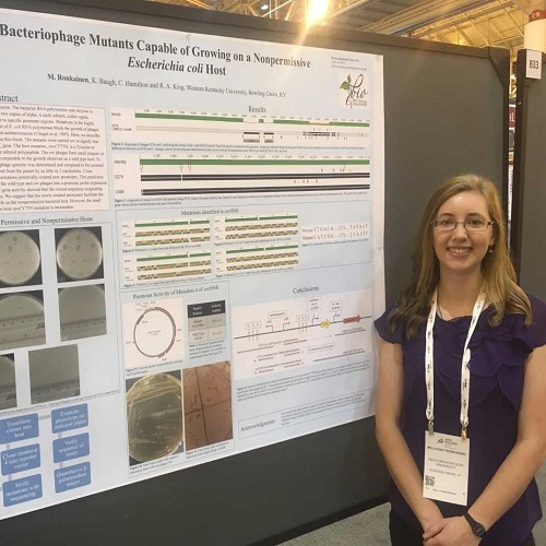 WKU BIOLOGY STUDENT PRESENTS RESEARCH AT NATIONAL MICROBIOLOGY MEETING