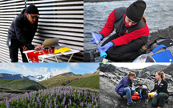 CHNGES graduate students conduct research in Iceland