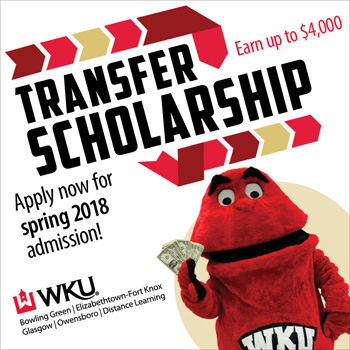 Transfer Scholarship application deadline November 1 for spring 2018 admission