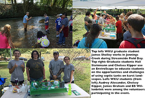WKU CHNGES students participate in Streamside Education Field Day