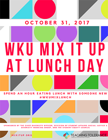 WKU participating in Mix It Up at Lunch Day on Oct. 31