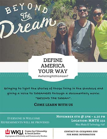 WKU CCSJ to present 'Beyond the Dream' Nov. 6 as part of International Education Week Dialogue Series