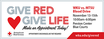 'Give Red, Give Life' blood drive begins Nov. 13