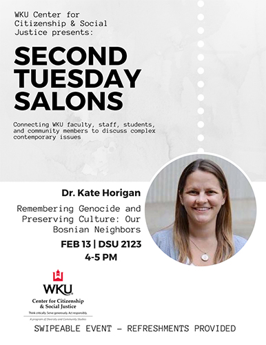 WKU CCSJ to present 'Second Tuesday Salons' lecture series