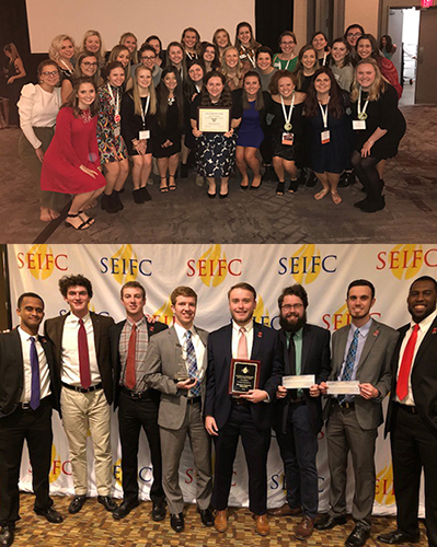 Panhellenic, Interfraternity councils recognized at leadership conferences