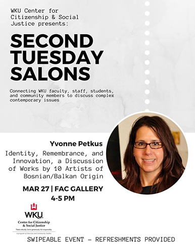 WKU CCSJ 'Second Tuesday Salons' series continues March 27