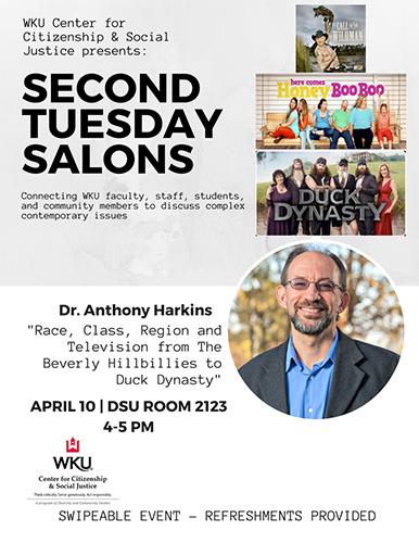 WKU CCSJ 'Second Tuesday Salons' series continues April 10