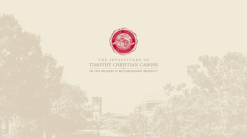 Investiture Ceremony for President Caboni April 27
