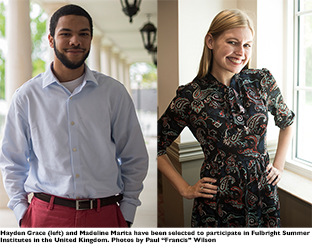 2 WKU students selected to participate in Fulbright Summer Institute