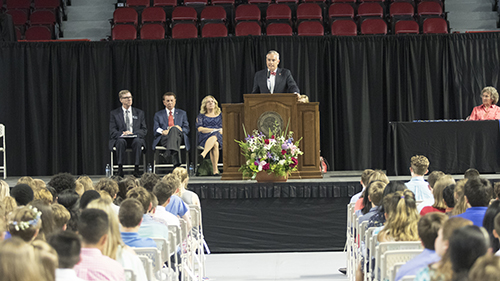 Academically talented 7th-graders honored at Duke TIP ceremony
