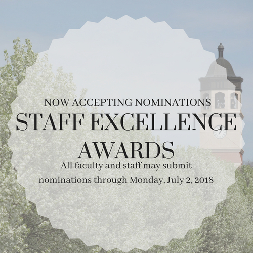 2018 Staff Excellence Award Nominations