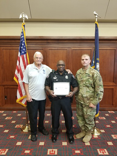 WKU Police Chief receives Department of Defense/ESGR Patriot Award
