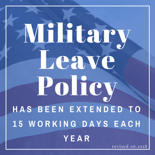 Updated Military Leave Policy