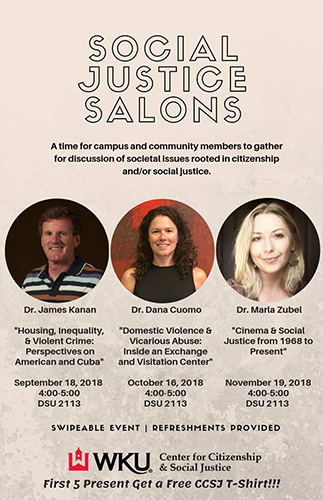 WKU CCSJ to present 'Social Justice Salons' lecture series