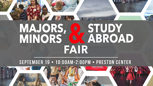2018 Majors and Minors & Study Abroad Fair Sept. 19