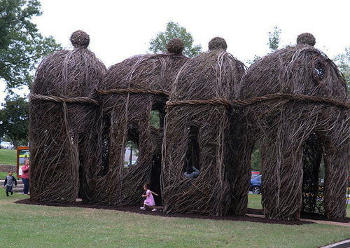 Highbrow, Patrick Dougherty Sculpture