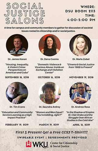 WKU CCSJ to host 'Social Justice Salons' lecture on Nov. 19