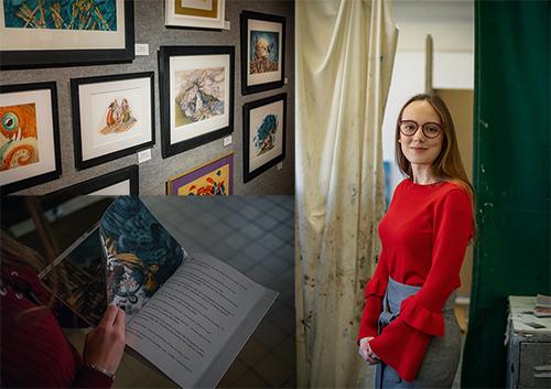 Ogden Foundation Scholar drawn to career as book illustrator