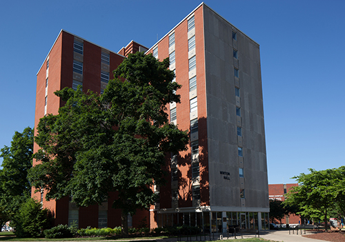 Minton Hall will remain closed for spring semester