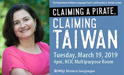 'Claiming a Pirate, Claiming Taiwan' topic of Hatcher Modern Language Lecture Series
