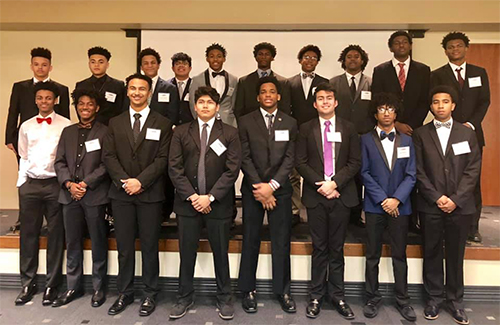 Young Male Leadership Academy students honored at state conference