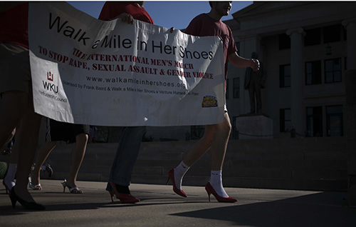Fraternities seek to change culture through Walk a Mile event