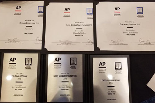 WKU staff, students honored in AP Broadcasters competition