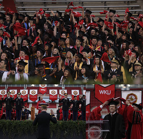WKU confers 2,677 degrees to spring graduates, presents honorary doctorate