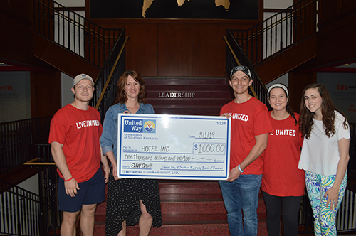 WKU Student United Way presents $1,000 grant to HOTEL INC Street Medicine Program