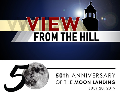 View from the Hill: Moon Landing Celebration