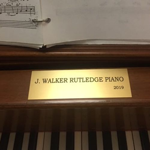 Gatton Academy grand piano dedicated to retired professor