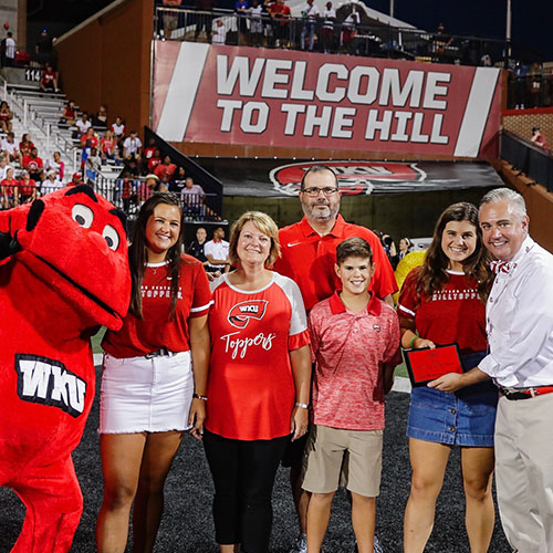 WKU recognizes 2019 Family of the Year