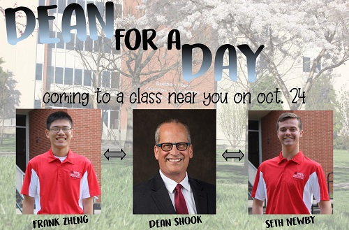 """Mahurin Honors College students elected as GFCB """"Dean for a Day"""""""