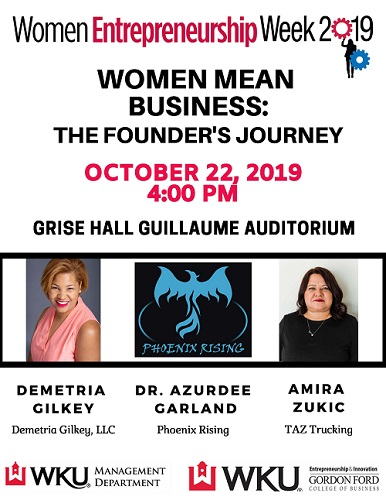 Women Entrepreneurship Week Features Three Prominent Speakers