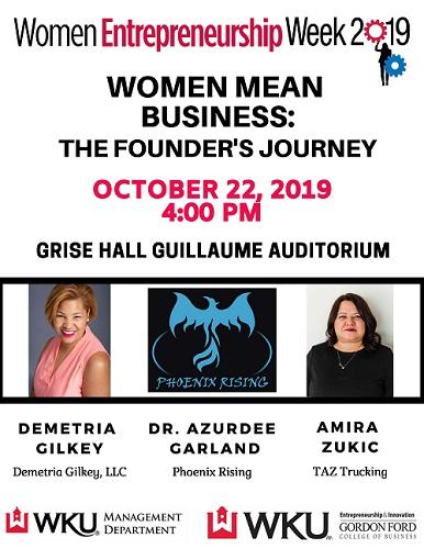 Women Entrepreneurship Week Features Three Prominent Speakers