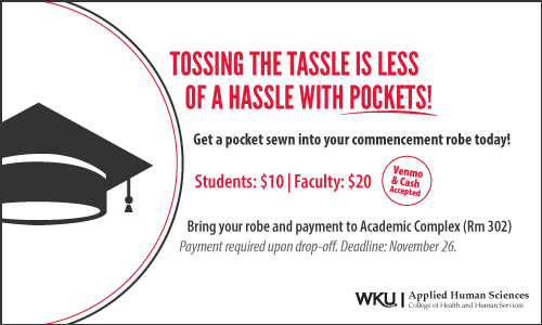 Tossing the Tassle is Less of a Hassle with Pockets!