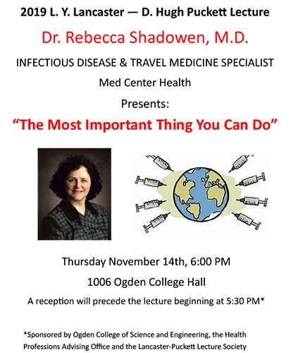 Dr. Rebecca Shadowen to present Lancaster-Puckett Lecture on Nov. 14
