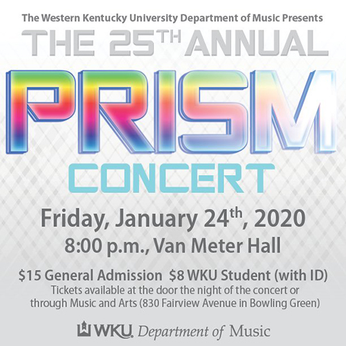 25th annual PRISM Concert Jan. 24 at Van Meter Hall