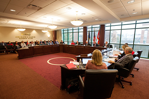 WKU Regents to hold committee meetings Jan. 31